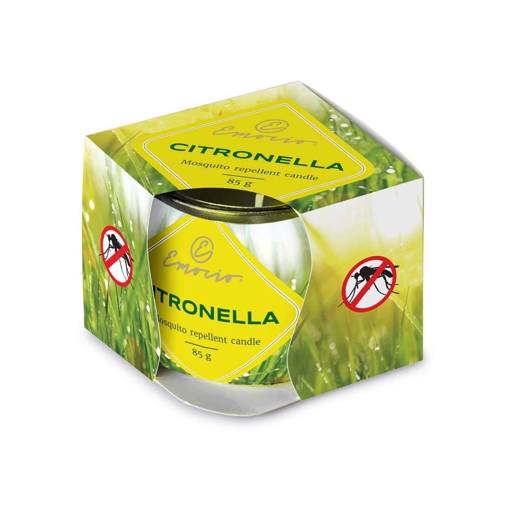 Vonná svíčka proti komárům Citronella, 85g