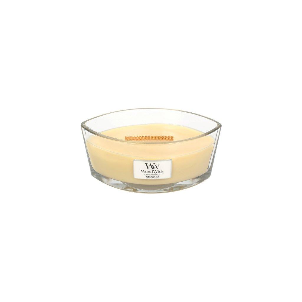 WoodWick - vonná svíčka Honeysuckle (Zimolez & jasmín) 453g