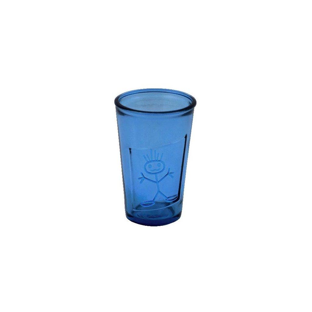 sklenice recyklovana modra