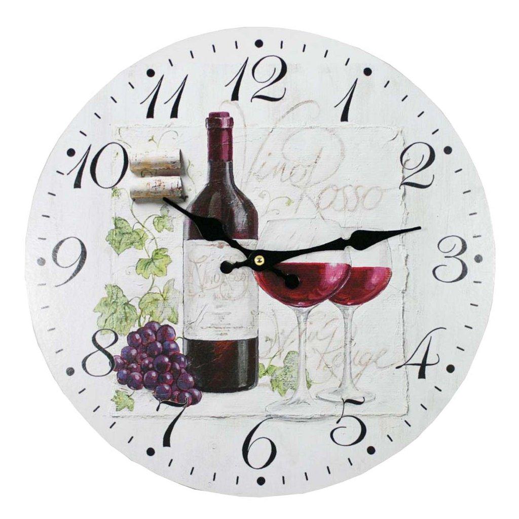 hodiny vino rosso 34cm