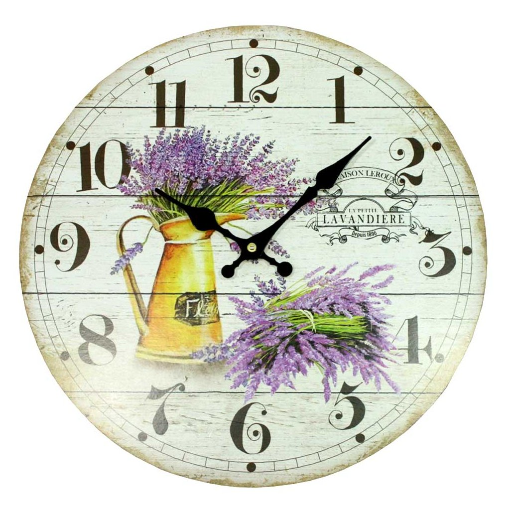 hodiny lavendeira 34cm