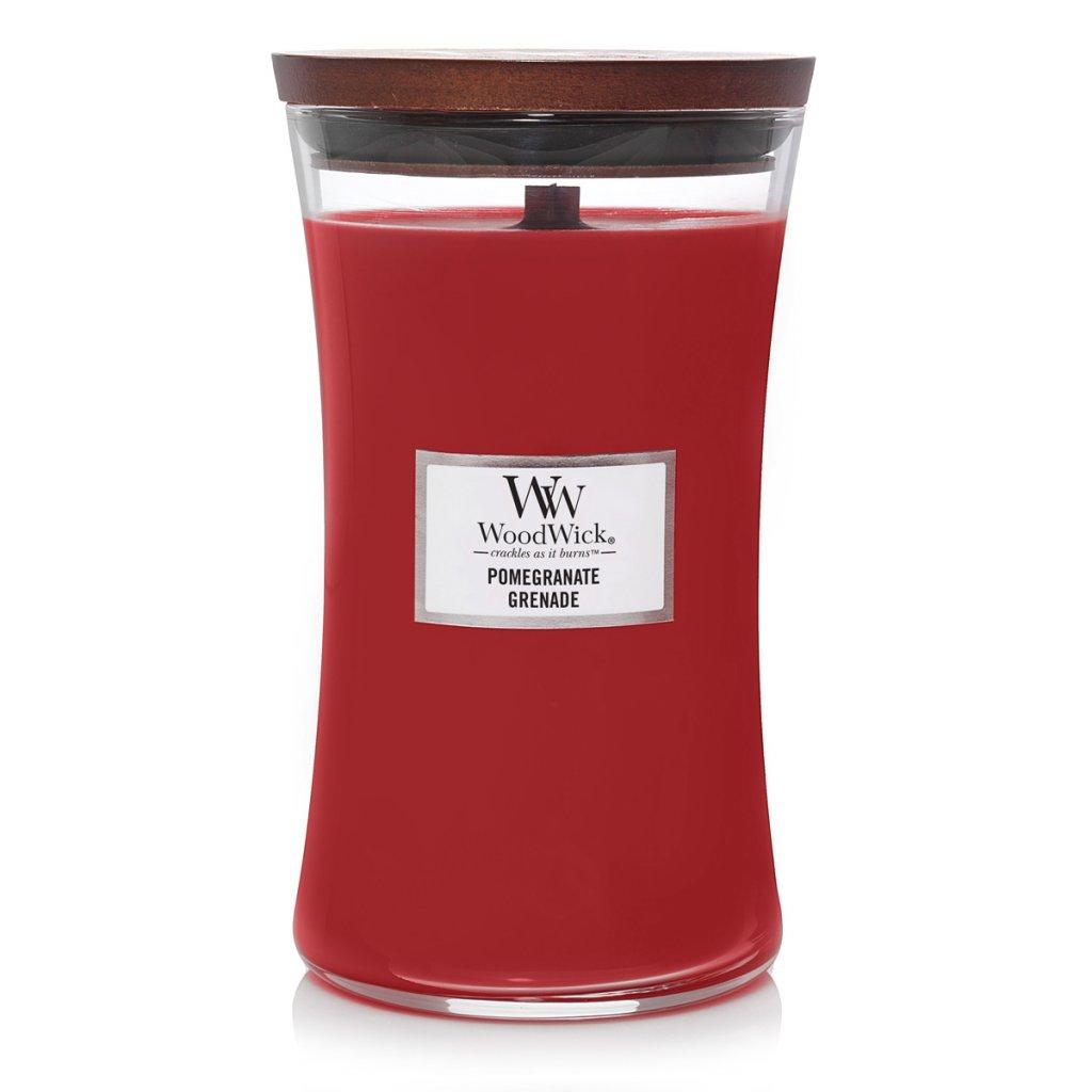 WoodWick - vonná svíčka Pomegranate (Granátové jablko) 609g