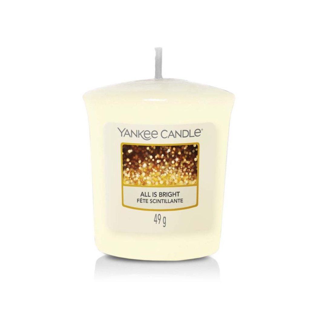 Yankee Candle - votivní svíčka All is Bright (Všechno jen září) 49g