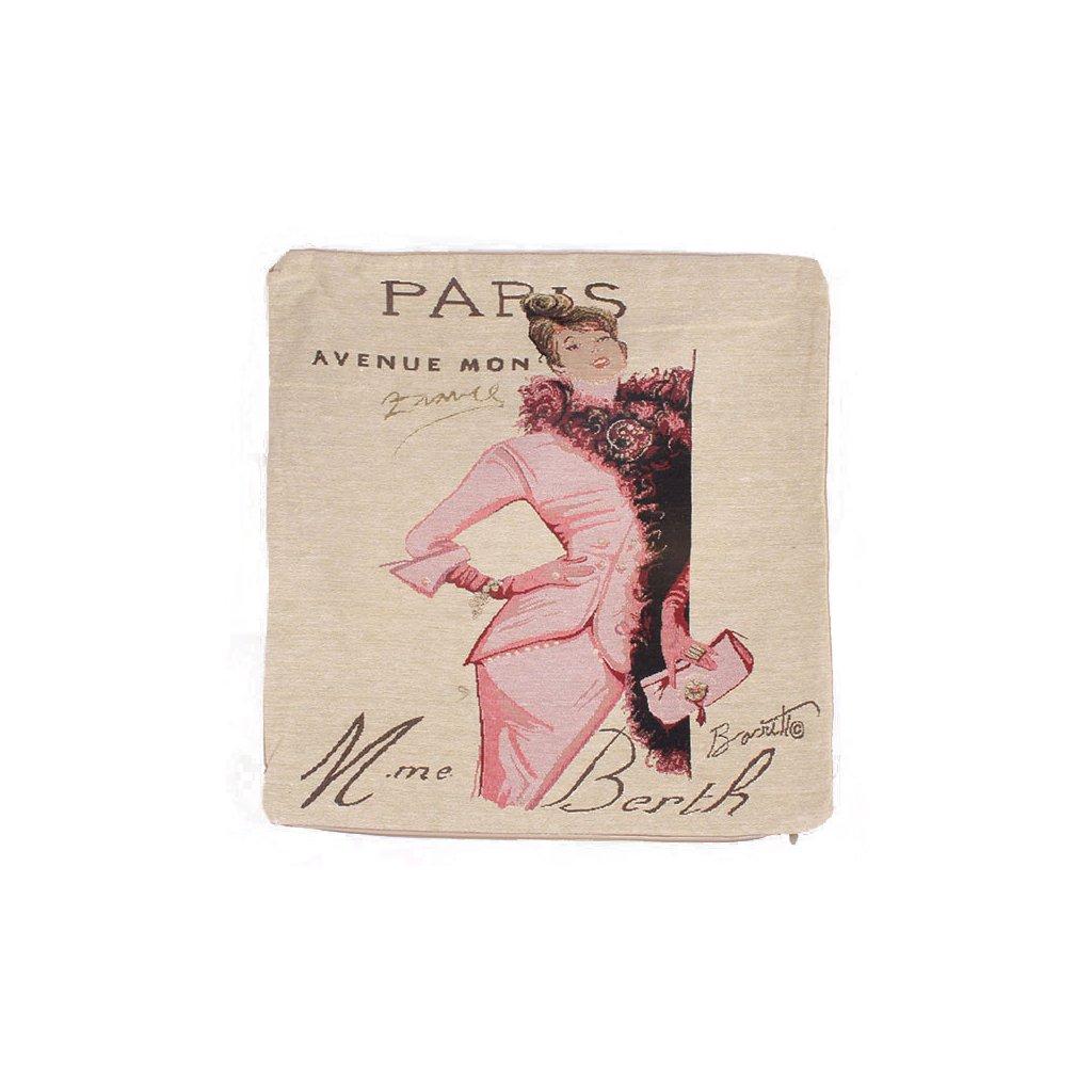 Povlak na polštář Paris 44x44 cm