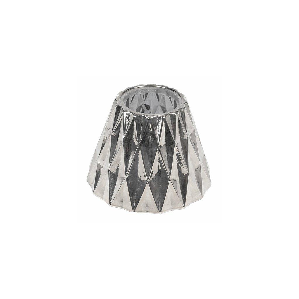 WoodWick - stínítko na svíčku, stříbrné