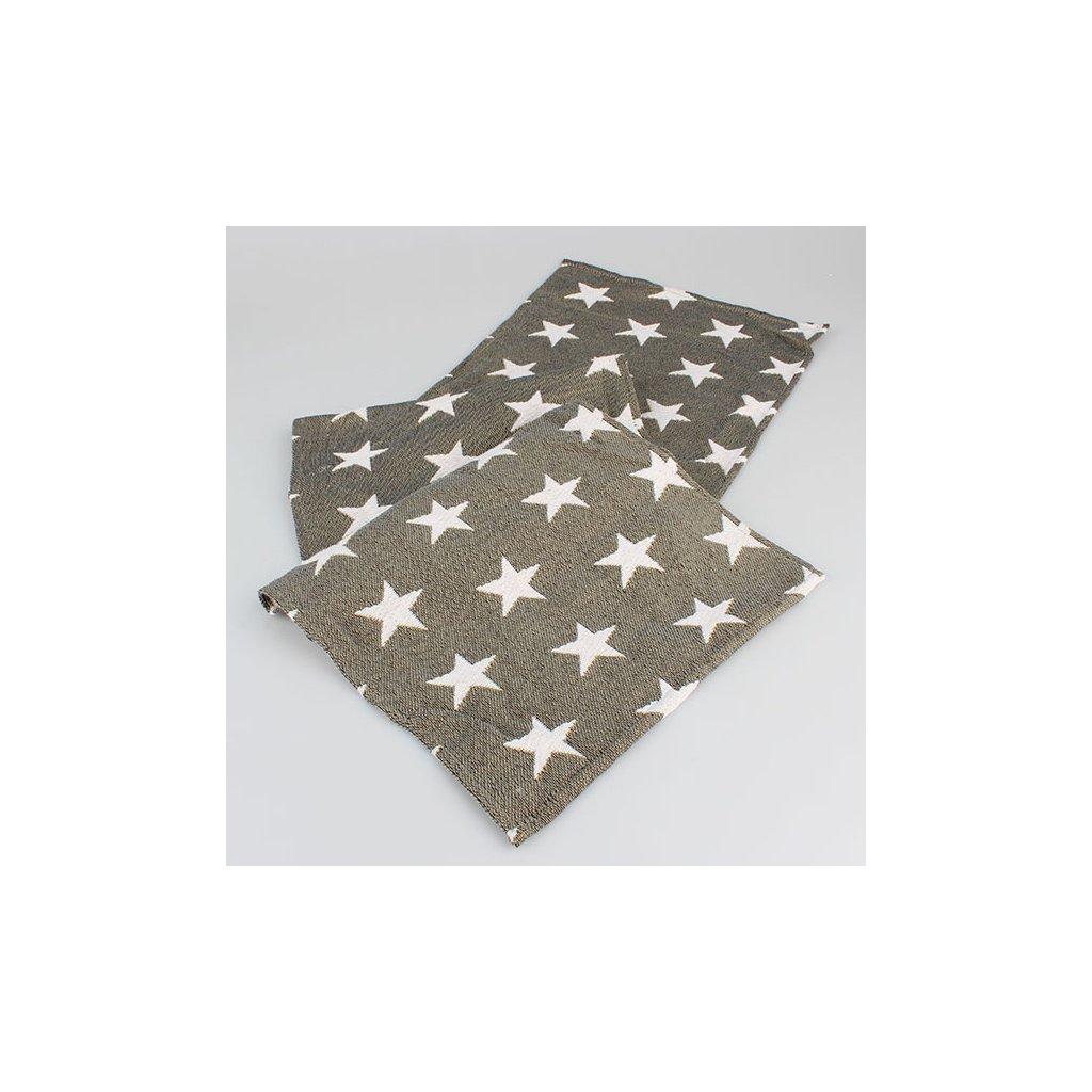 Casa de Engel - běhoun hvězdy tmavý 30×140 cm