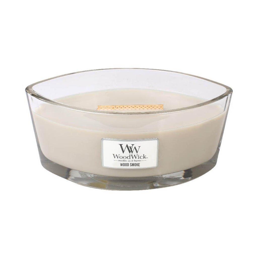 WoodWick - vonná svíčka Wood Smoke (Kouř a dřevo) 453g