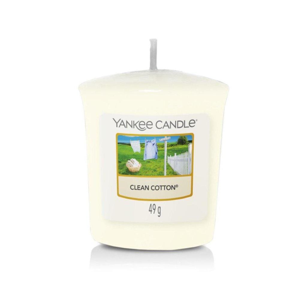 Yankee Candle - votivní svíčka Clean Cotton 49g