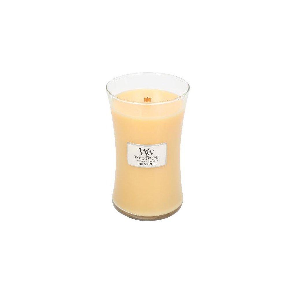 WoodWick - vonná svíčka Honeysuckle (Zimolez & jasmín) 609g