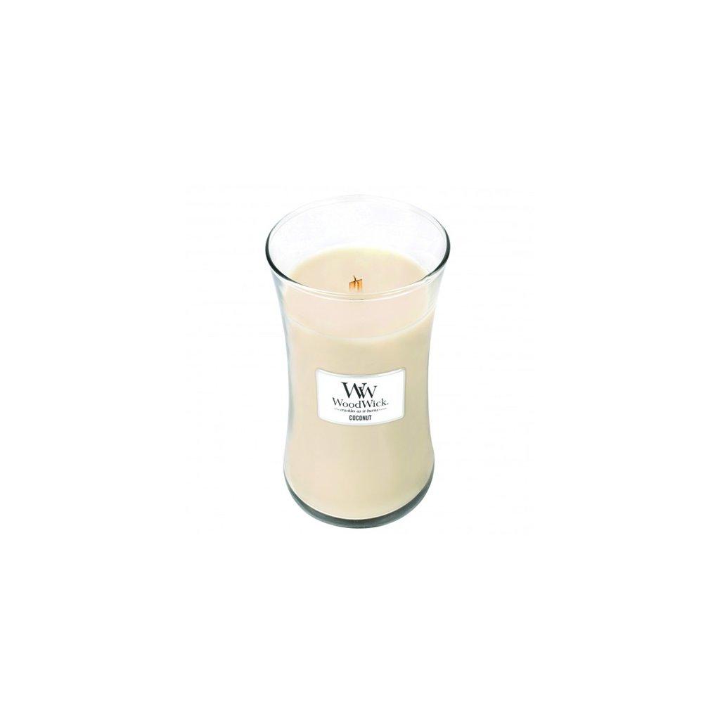 WoodWick - vonná svíčka Kokosový ořech 609g