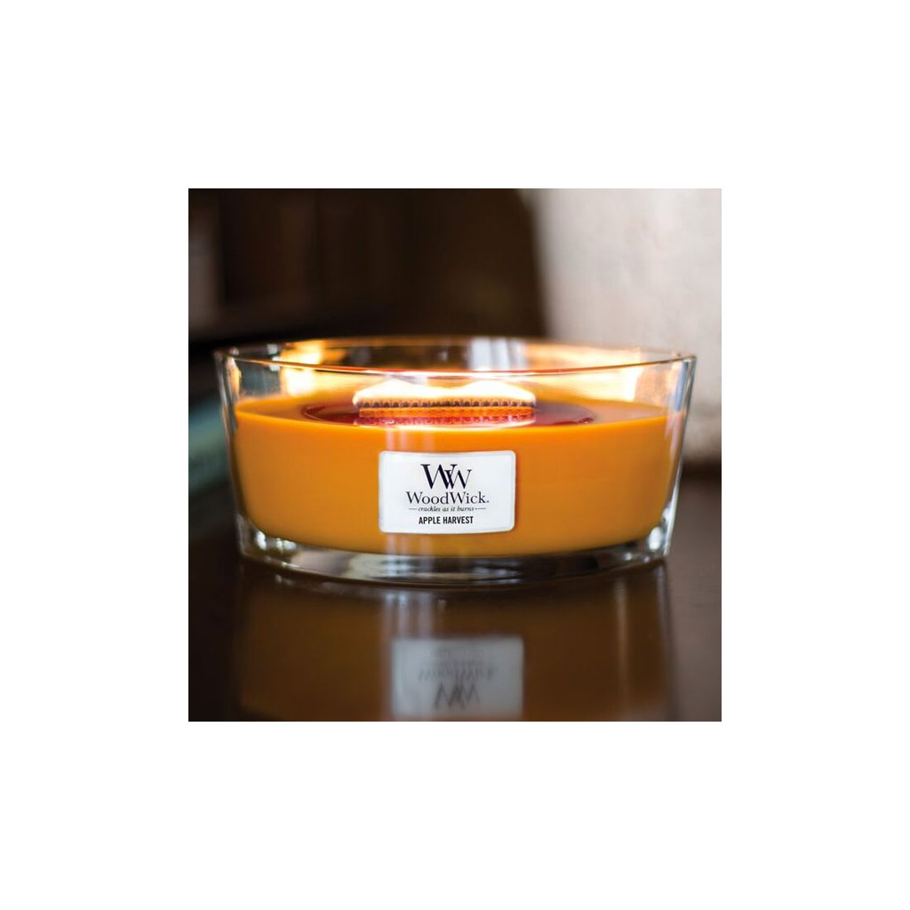 WoodWick - vonná svíčka Sklizeň jablek 453g