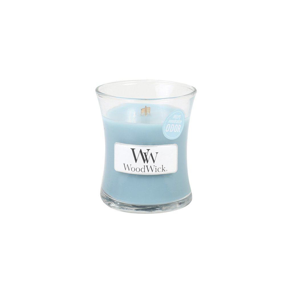 WoodWick - vonná svíčka Svěží prádlo 85g (neutralizuje zápachy)