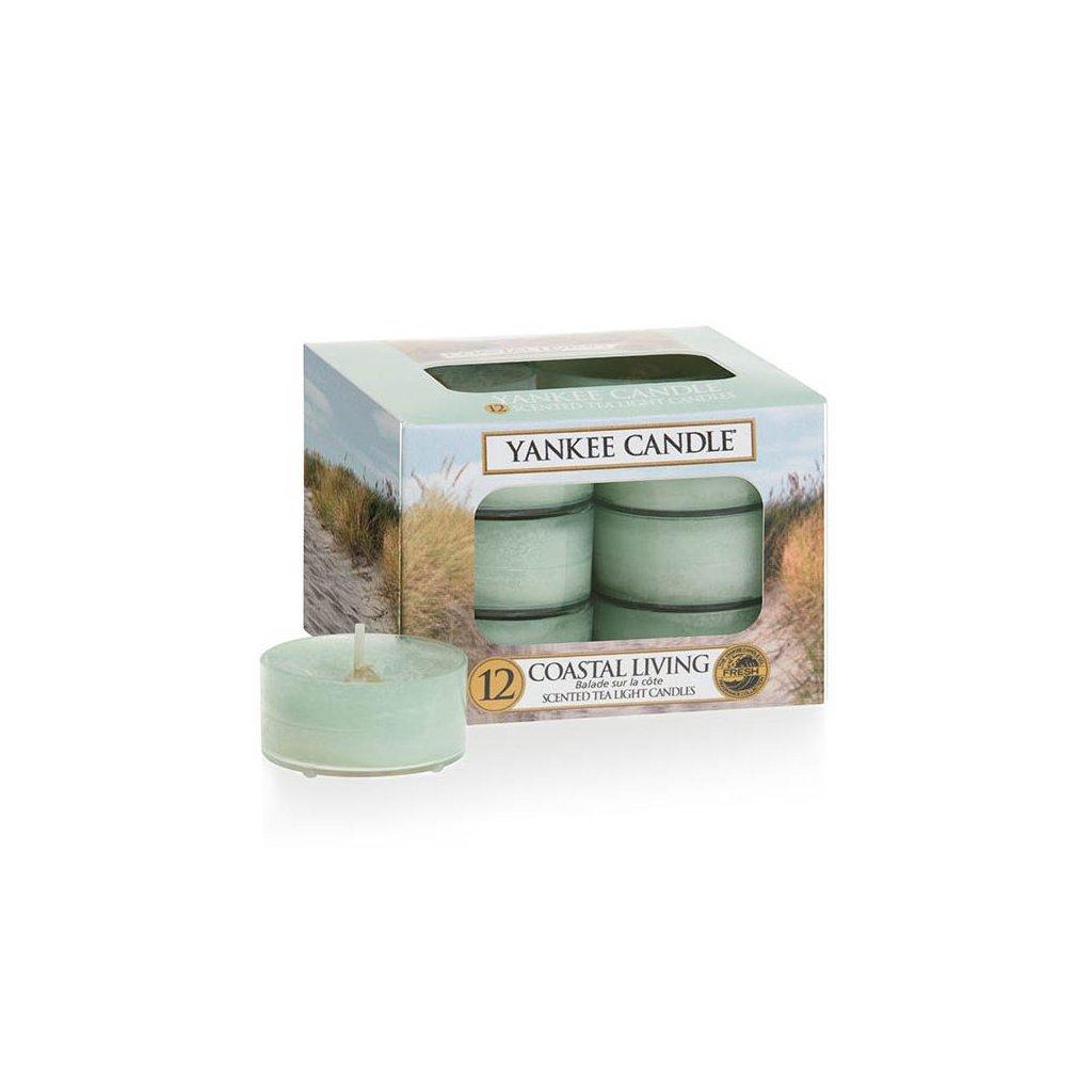 Yankee Candle - čajové svíčky Coastal Living 12 ks