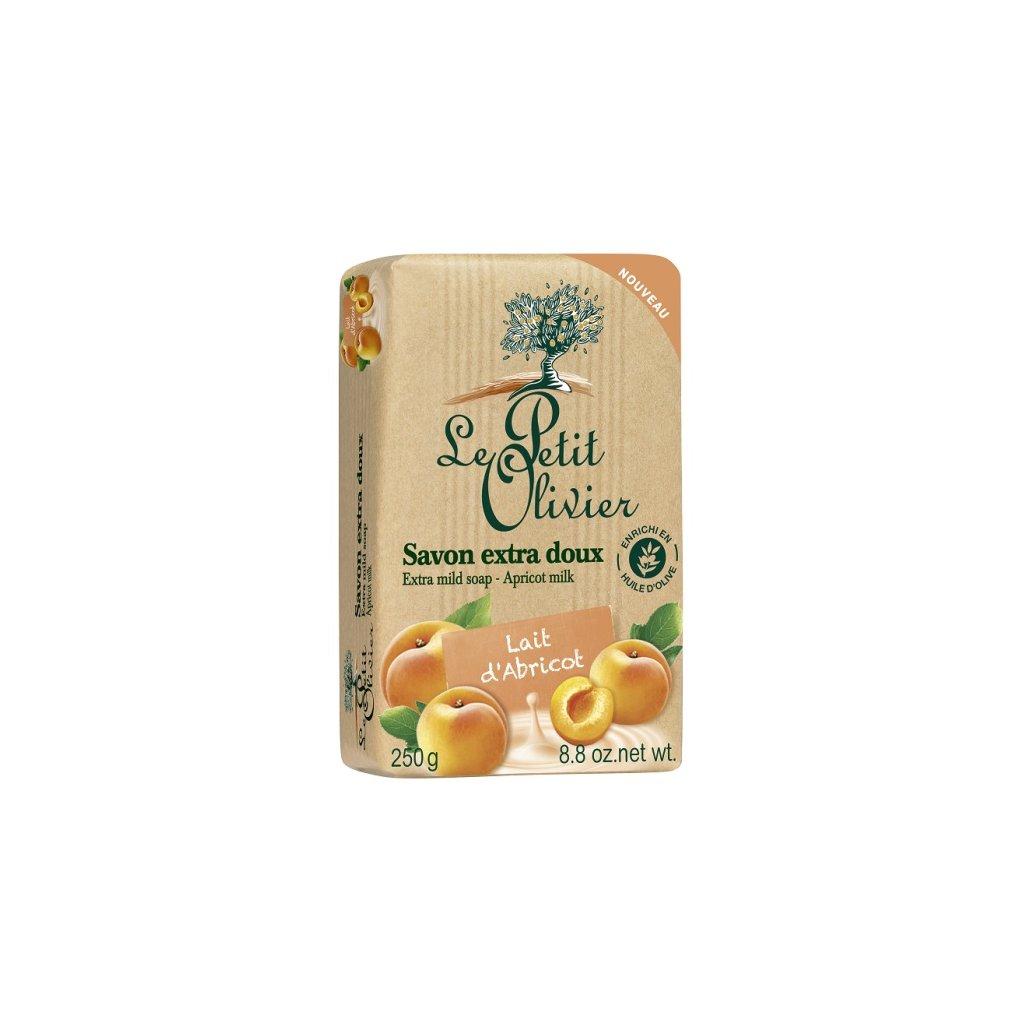 Le Petit Olivier - extra jemné mýdlo Meruňkové mléko 250g