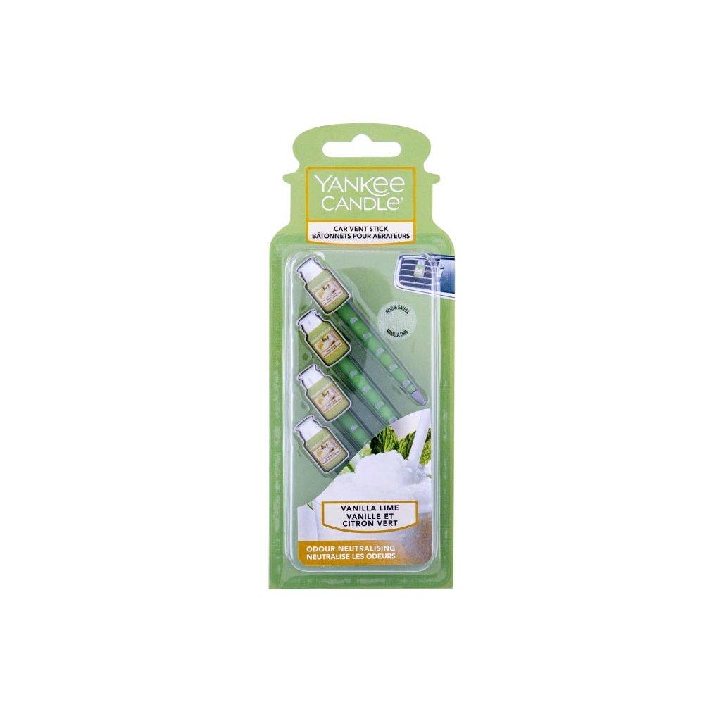 Yankee Candle - vůně do auta, kolíčky Vanilla Lime (Vanilka slimetou) 4 ks