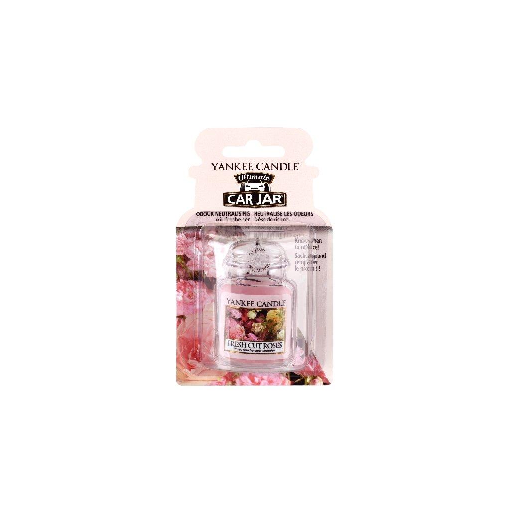 Yankee Candle - gelová visačka do auta Fresh Cut Roses 1 ks