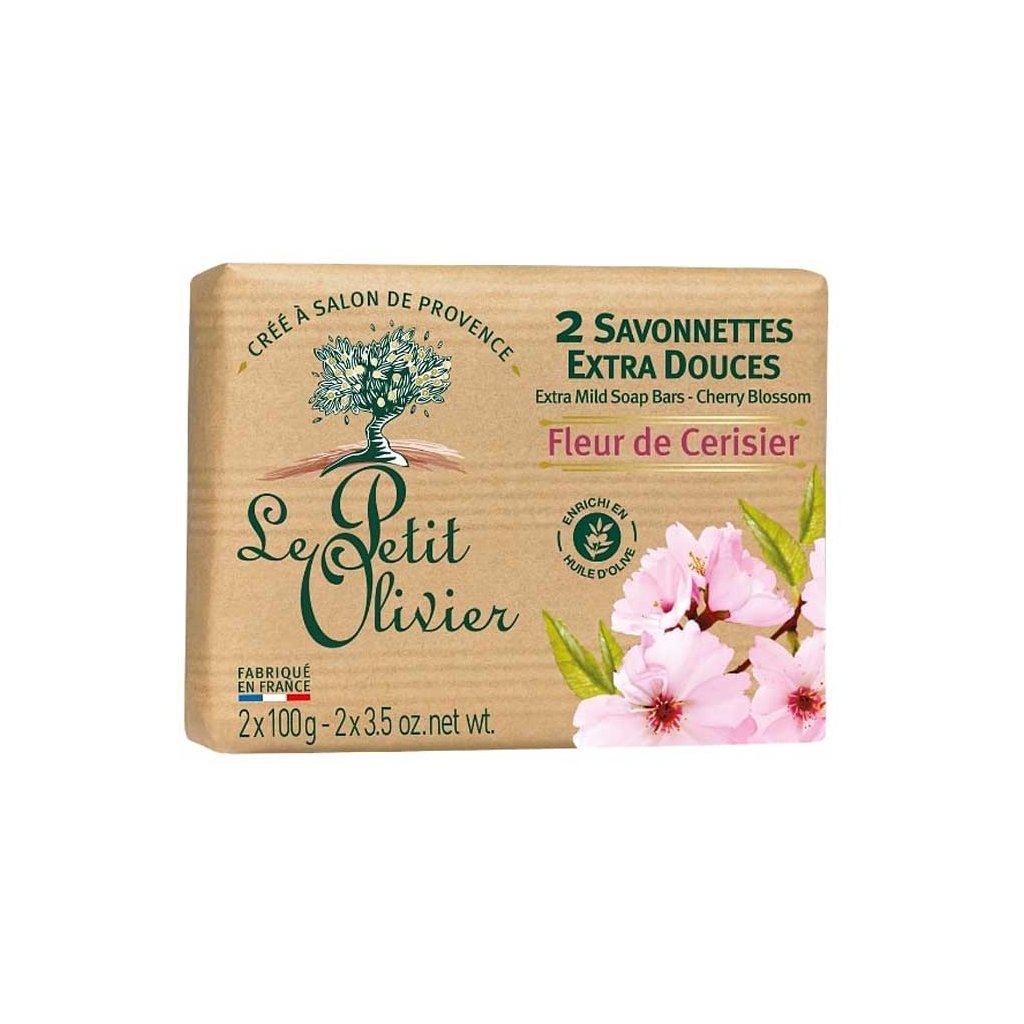 Le Petit Olivier - extra jemné mýdlo Třešňový květ 2x100g