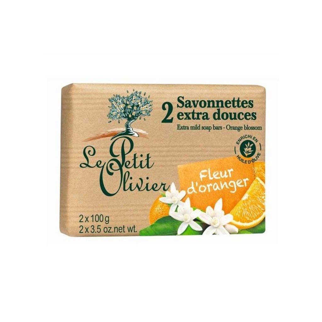 Le Petit Olivier - extra jemné mýdlo Pomeranč. květ 2x100g