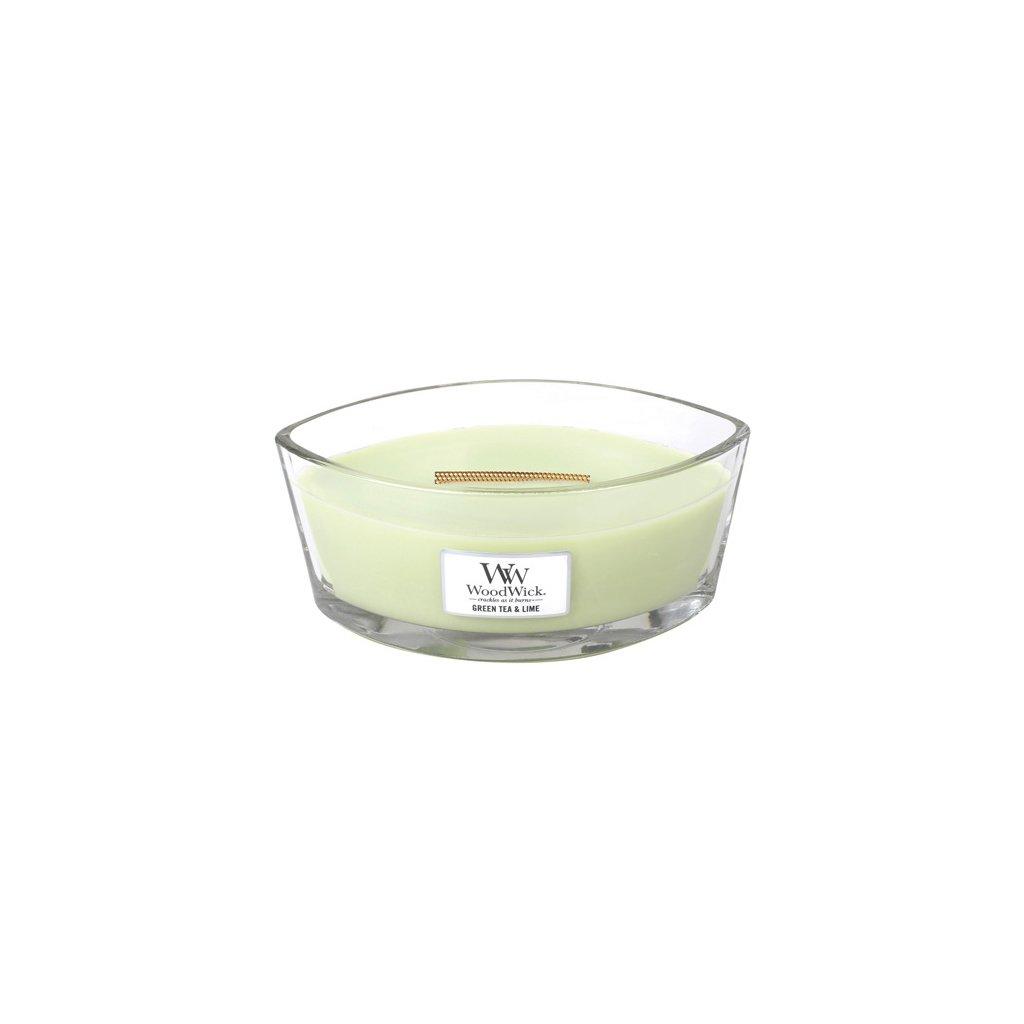 WoodWick - vonná svíčka Zelený čaj a limetka 453g