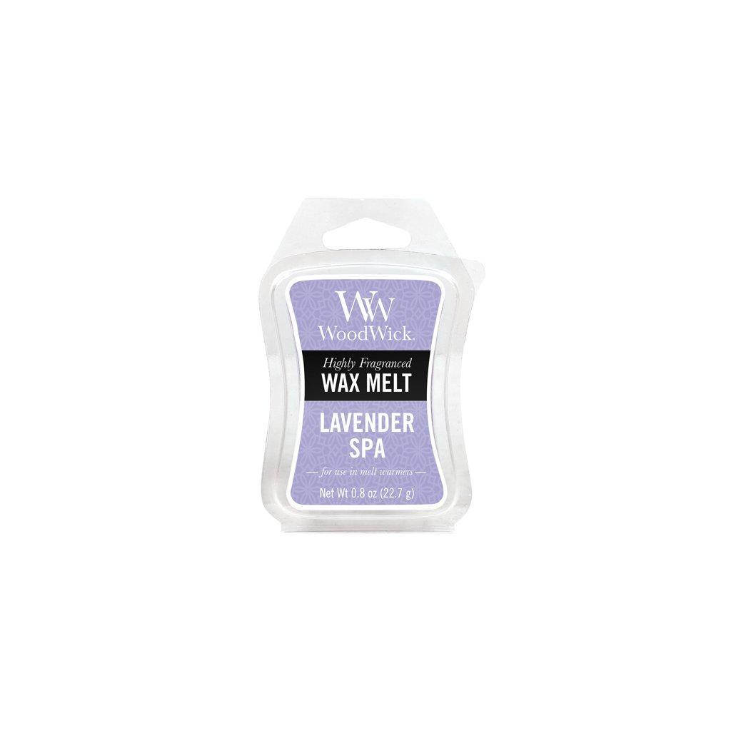 WoodWick vonný vosk Lavender Spa (Levandulové lázně) 23g