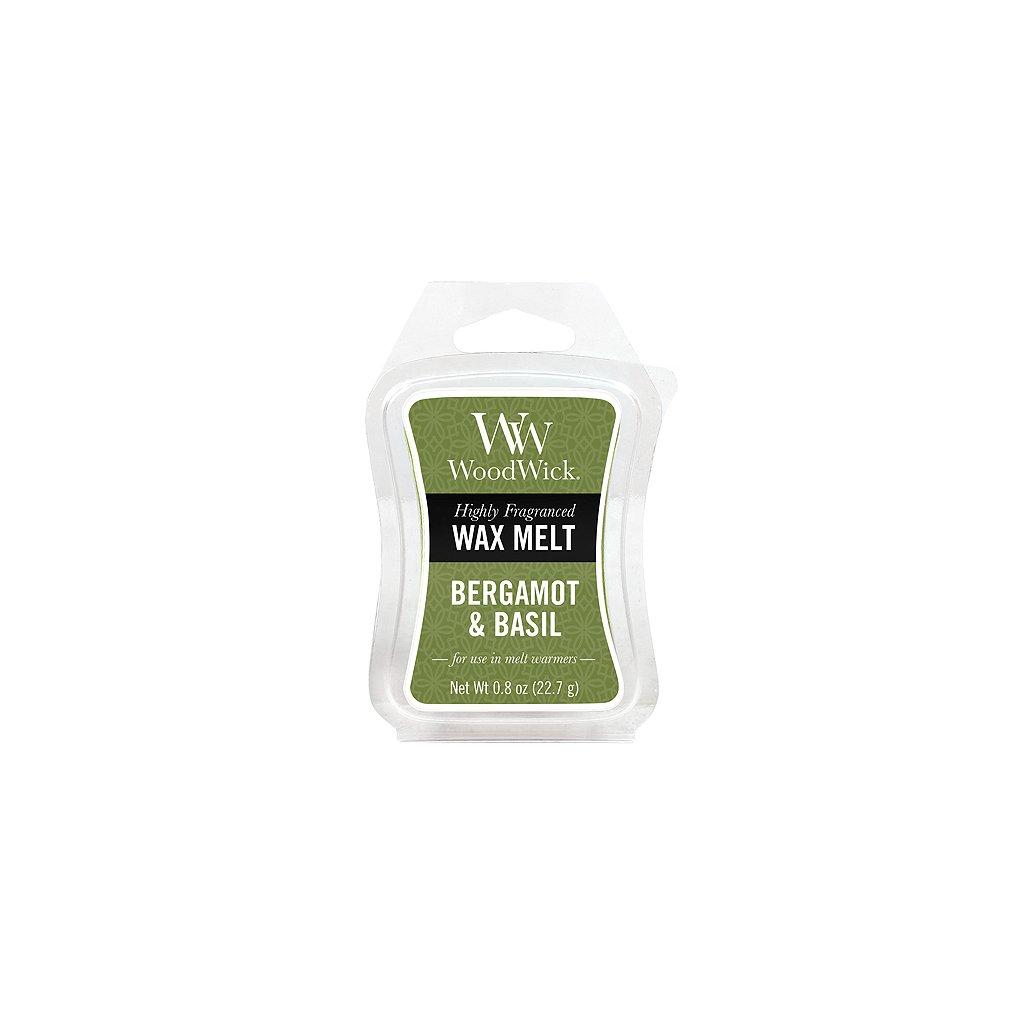WoodWick vonný vosk Bergamot & Basil (Bergamot a bazalka) 23g