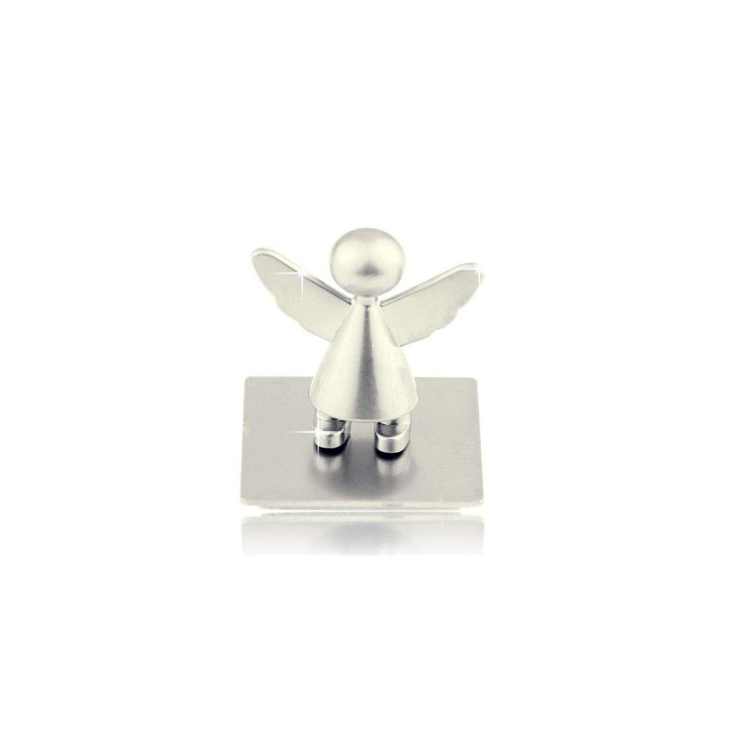 Anděl strážný s magnetem, stříbrný matný