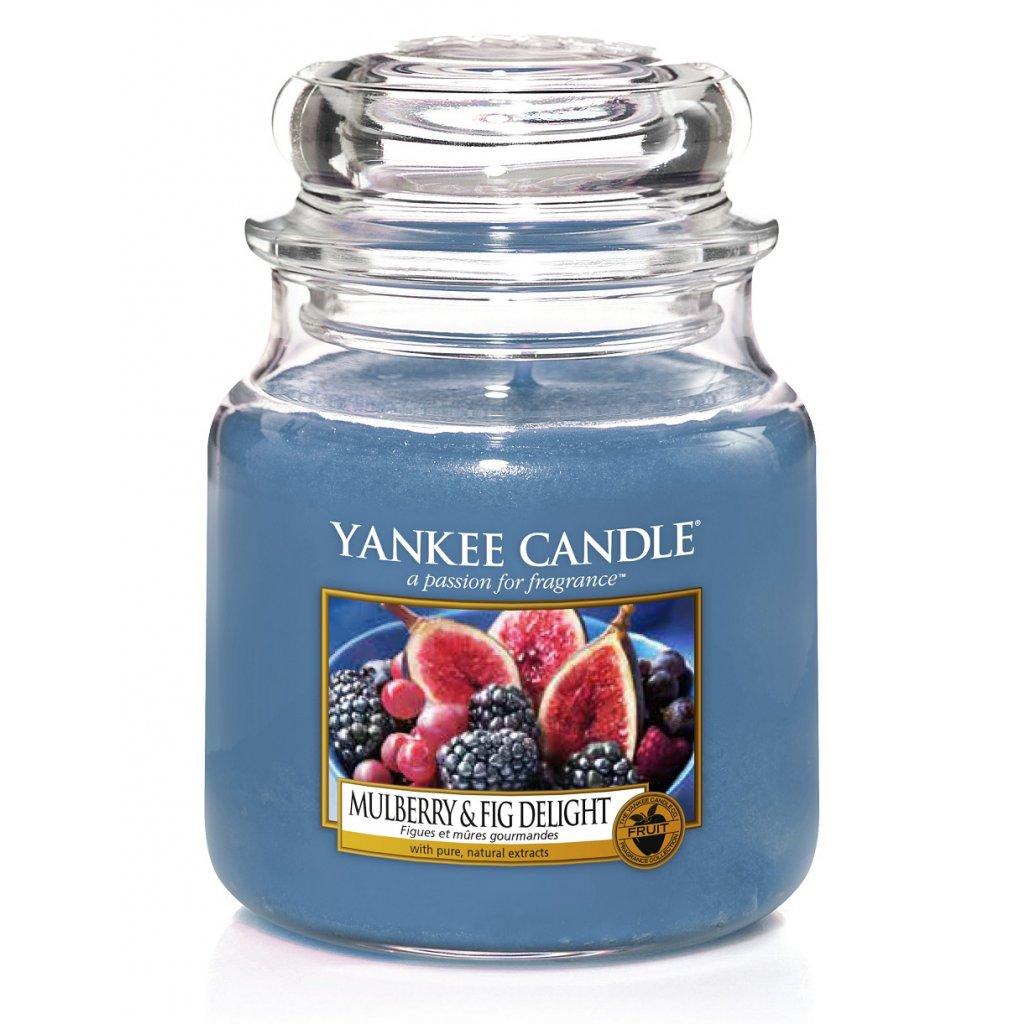 Yankee Candle - vonná svíčka Mulberry & Fig Delight (Lahodné moruše a fíky) 411g