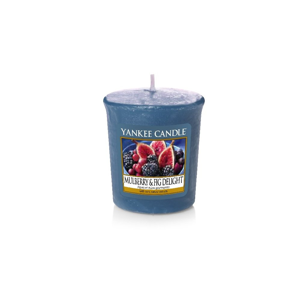 Yankee Candle - votivní svíčka Mulberry & Fig Delight (Lahodné moruše a fíky) 49g
