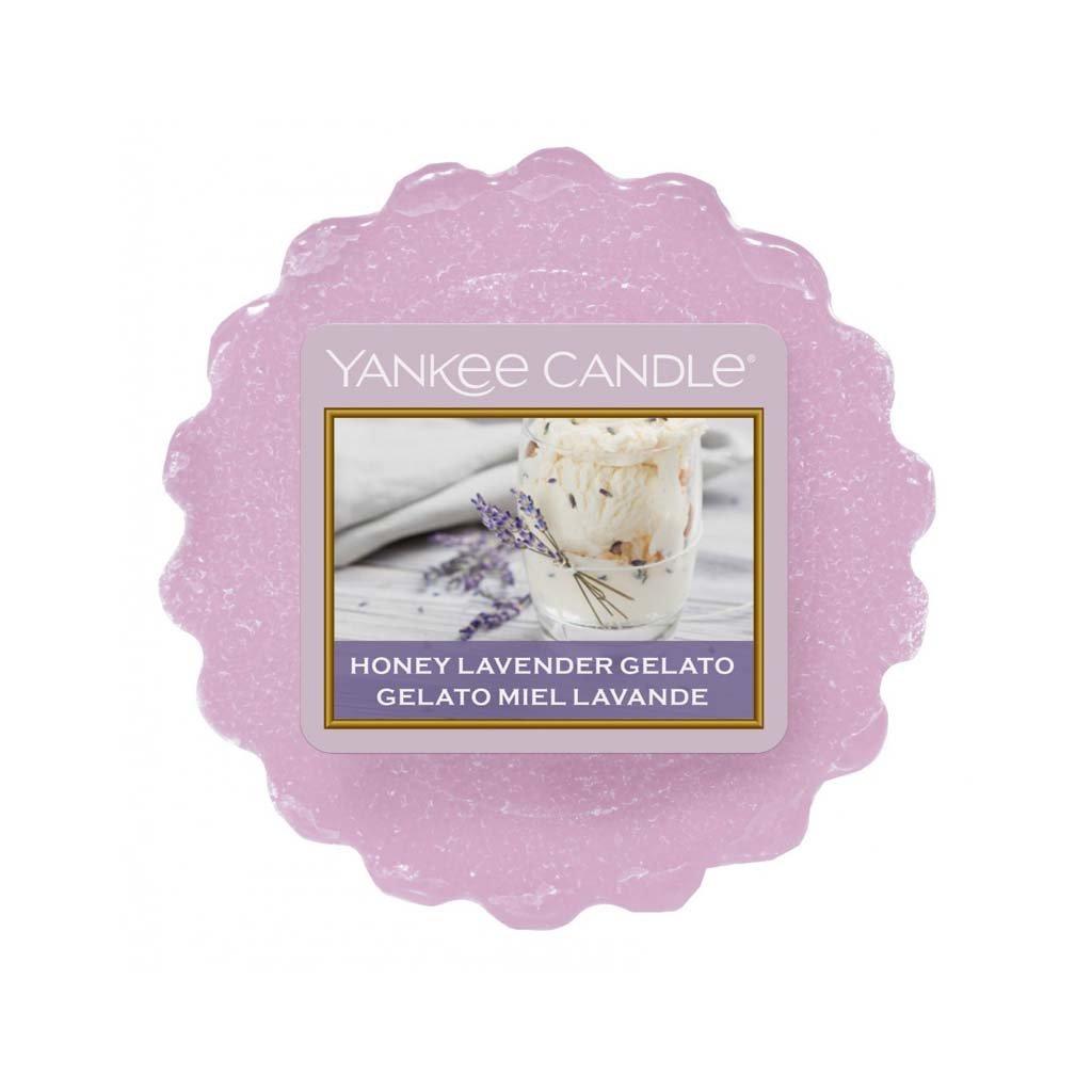 Yankee Candle - vonný vosk Honey Lavender Gelato 22g