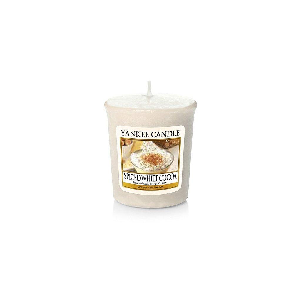 Yankee Candle - votivní svíčka Spiced White Cocoa 49g
