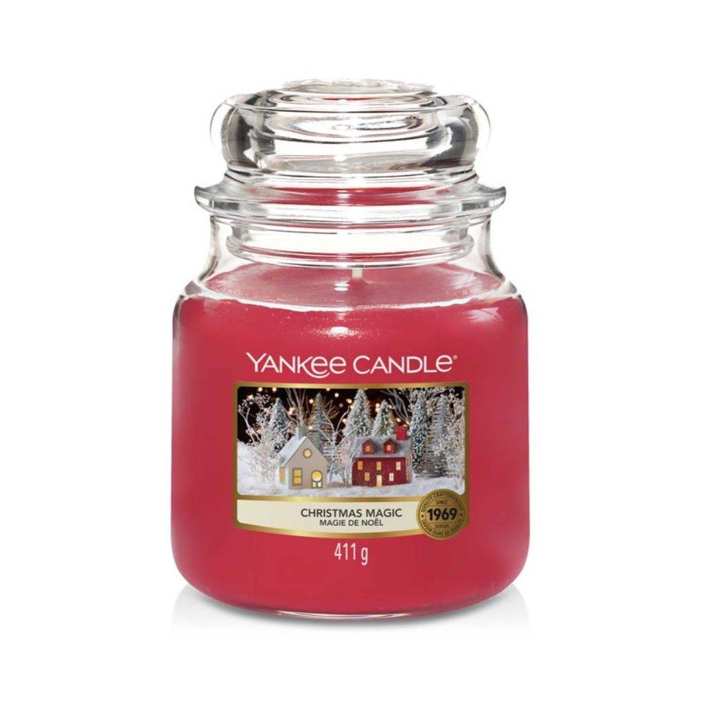 Yankee Candle - vonná svíčka Christmas Magic (Vánoční kouzlo) 411g