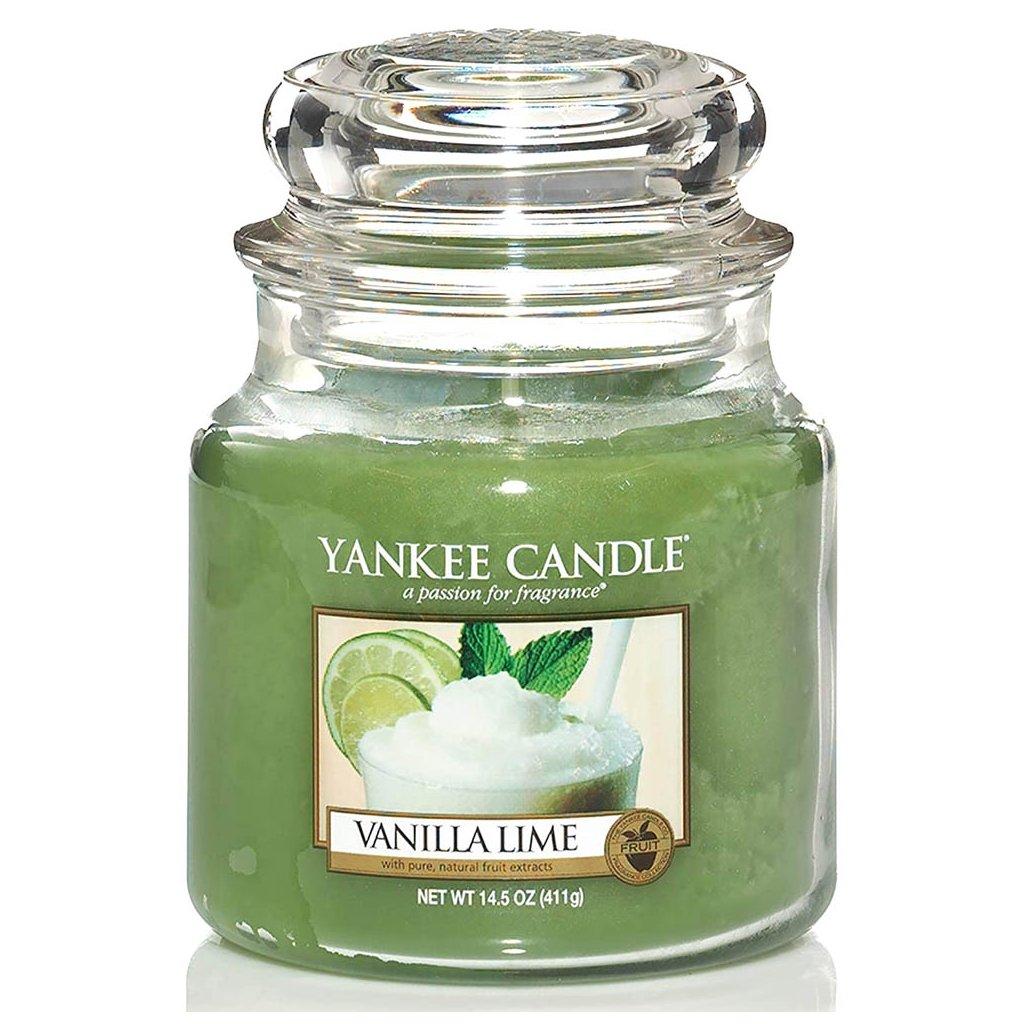 Yankee Candle - vonná svíčka Vanilla Lime 411g