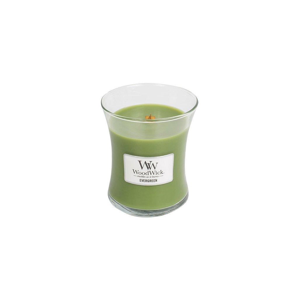 WoodWick - vonná svíčka Evergreen (Vůně jehličí) 275g