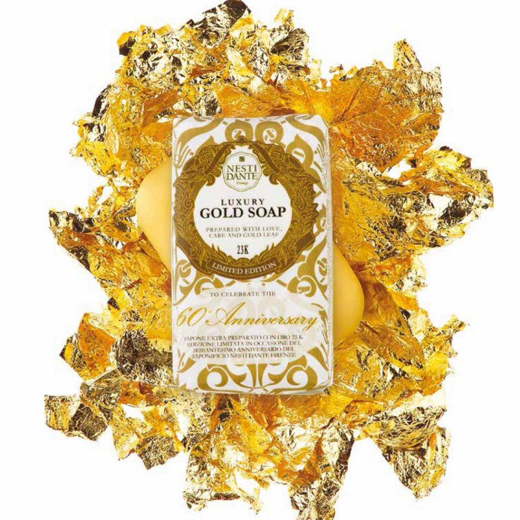 Nesti Dante - přírodní mýdlo Luxury Gold s 23K zlatem 250g