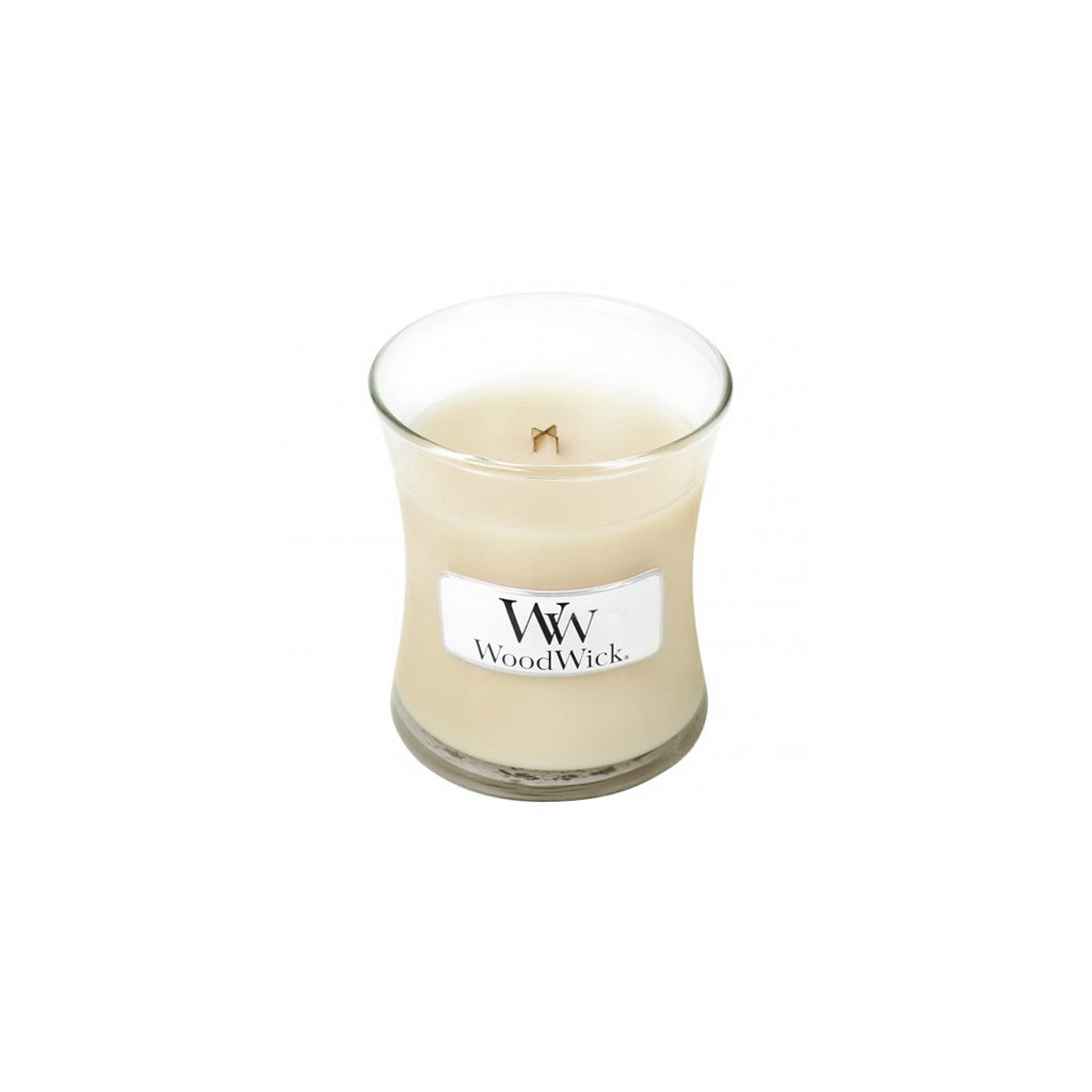 WoodWick - vonná svíčka Kokos a vanilka 85g