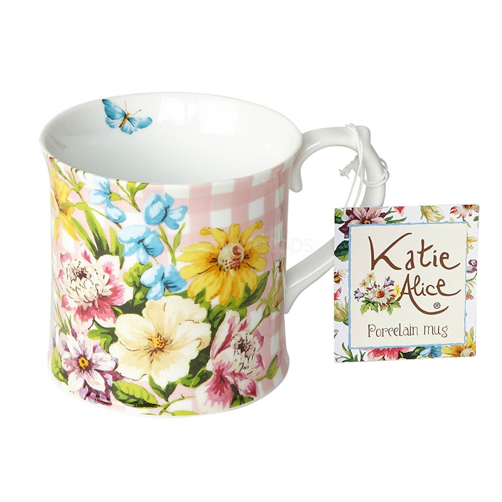 Katie Alice - porcelánový hrnek English Garden růžový 350 ml
