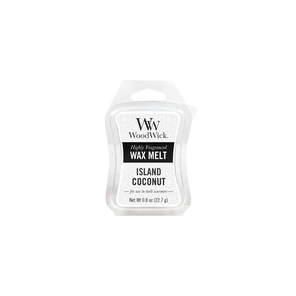 WoodWick vonný vosk Island Coconut (Kokosový ostrov) 23g