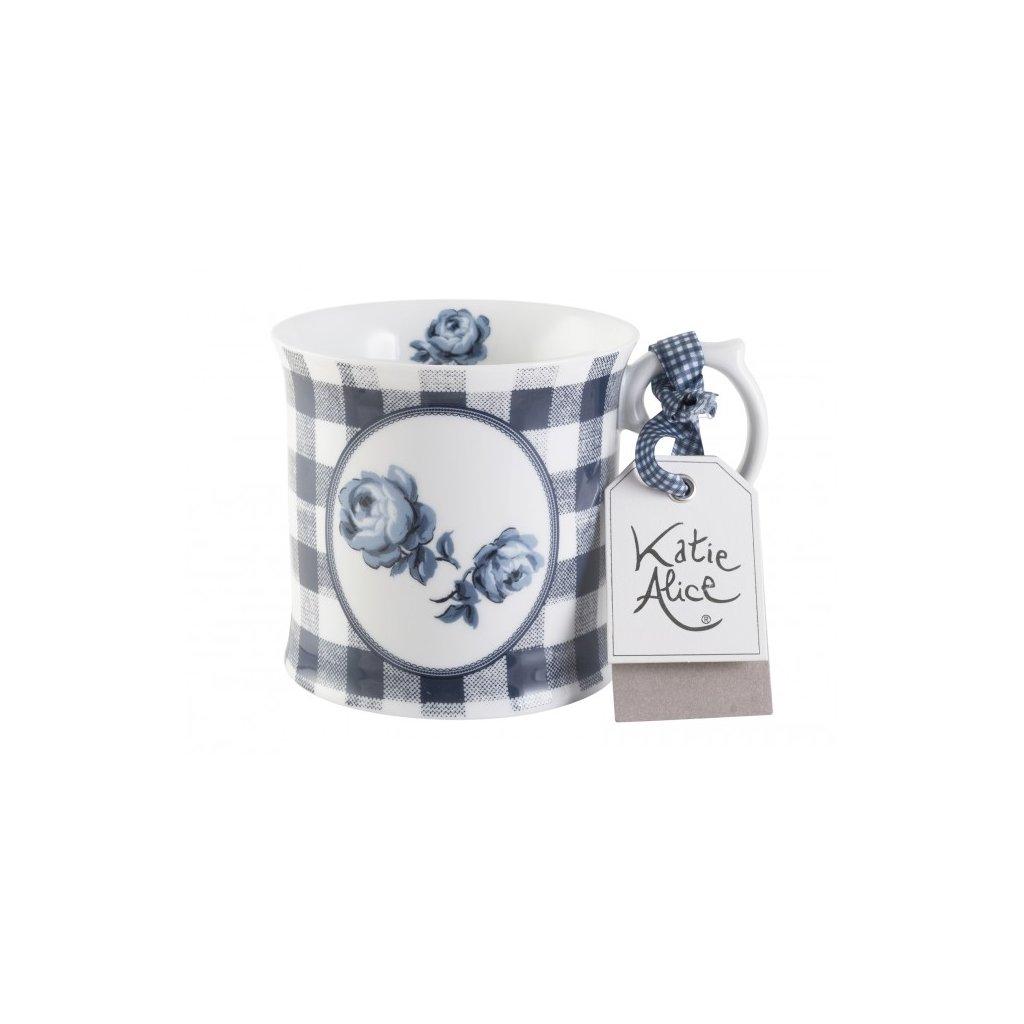 Katie Alice - porcelánový hrnek Gingham Floral 400 ml