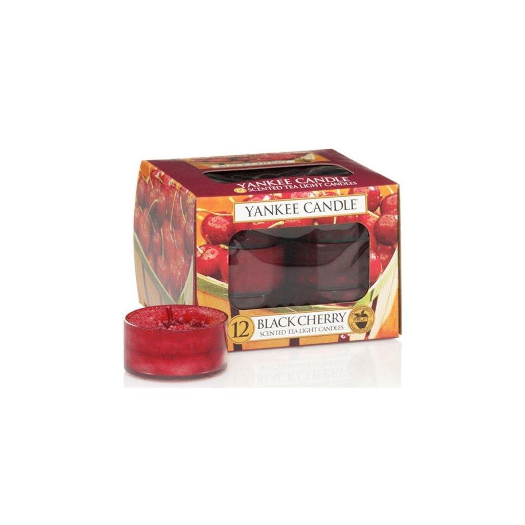 Yankee Candle - čajové svíčky Black Cherry 12ks