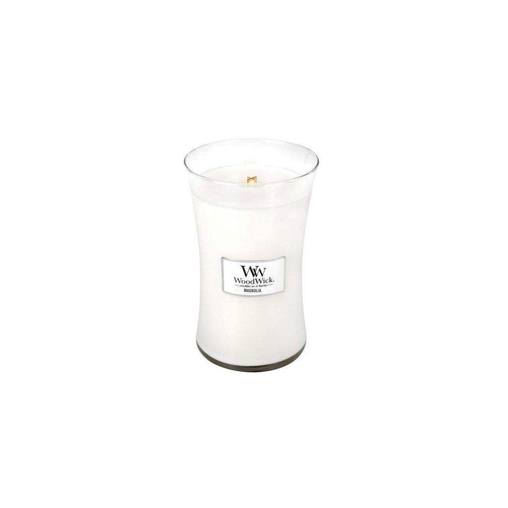 WoodWick - vonná svíčka Magnolia (Magnólie) 609g