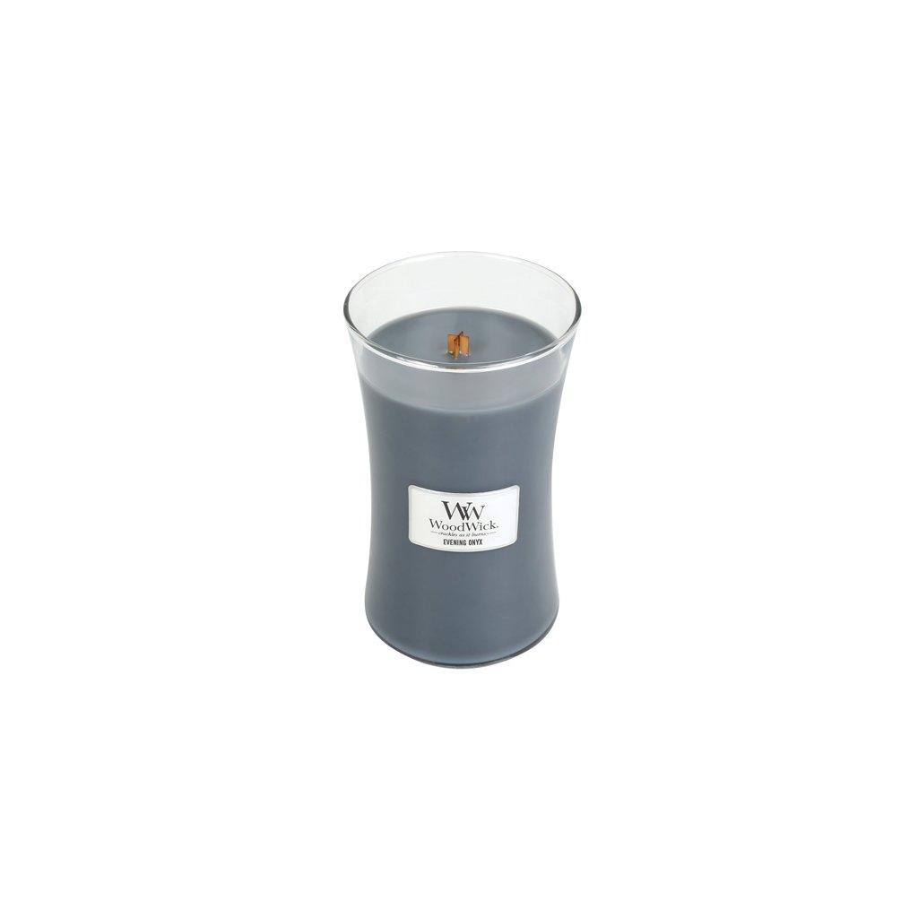 WoodWick - vonná svíčka Evening Onyx (Večerní onyx) 609g