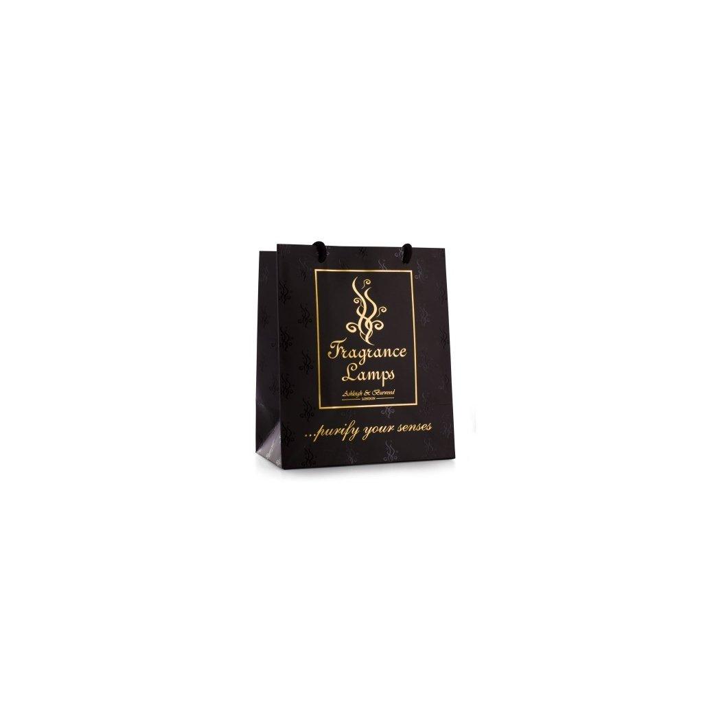 Ashleigh & Burwood - černá dárková taška 22 x 26 x 13 cm