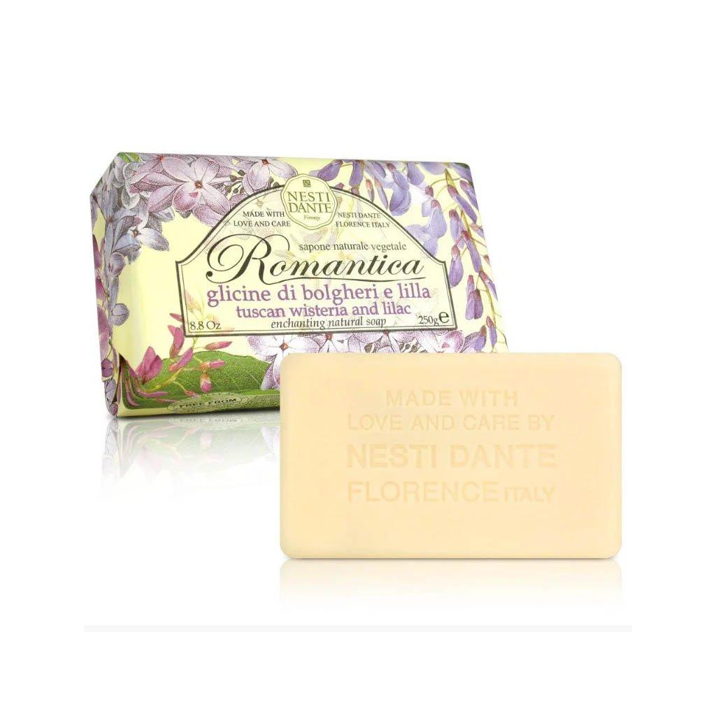 Nesti Dante - přírodní mýdlo Romantica, Toskánská wisterie a šeřík 250g