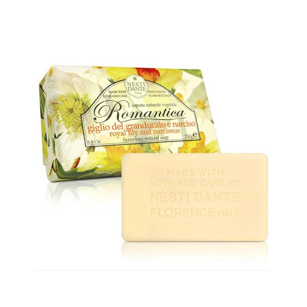 Nesti Dante - přírodní mýdlo Romantica, Královská lilie a narcis 250g