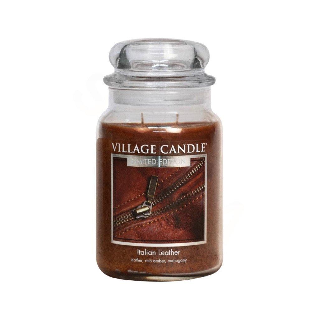 Village Candle - vonná svíčka Italská kůže 737g
