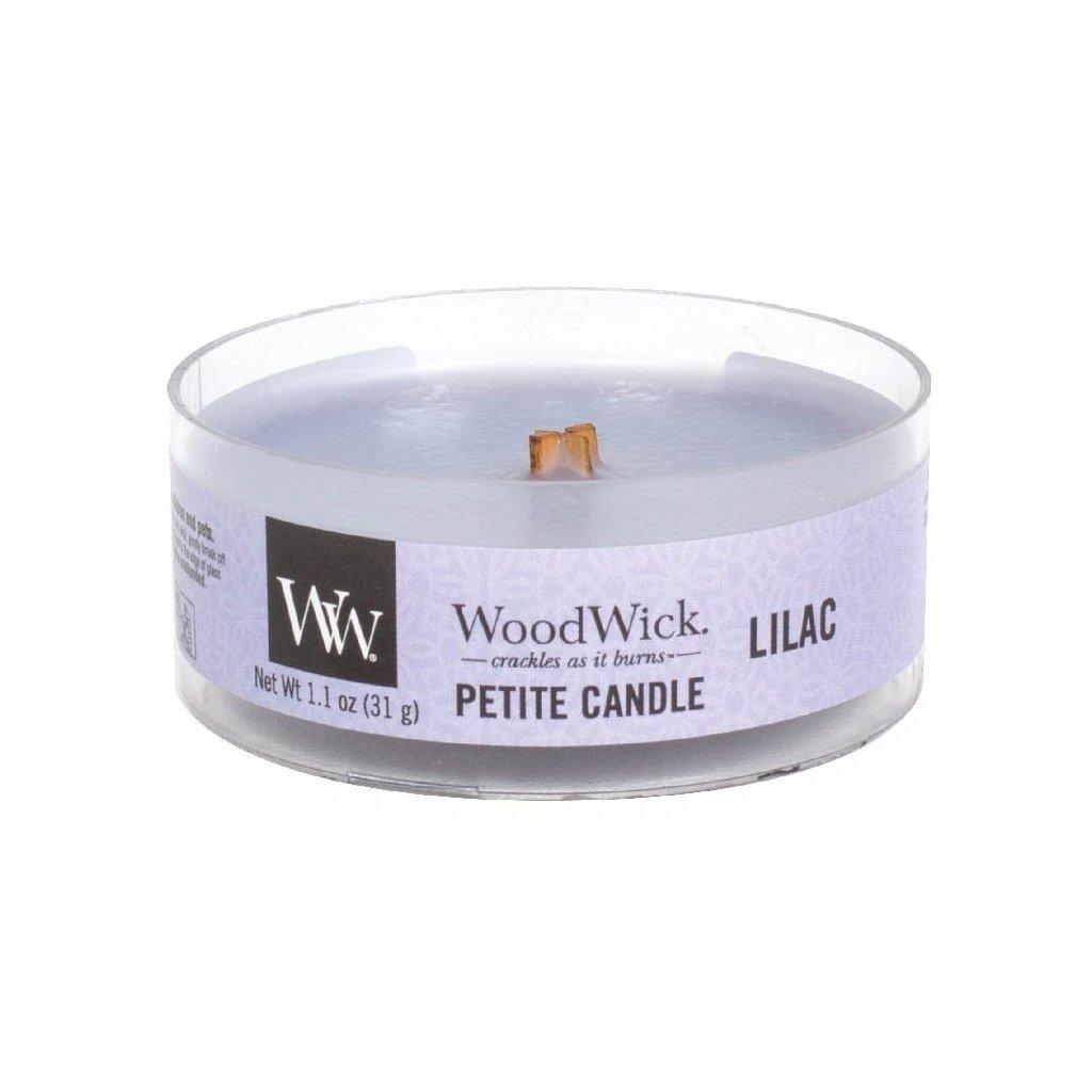 WoodWick - vonná svíčka Petite, Lilac (Šeřík) 31g