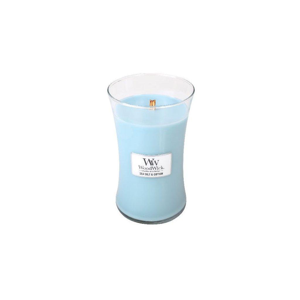 WoodWick - vonná svíčka Mořská sůl & bavlna 609g