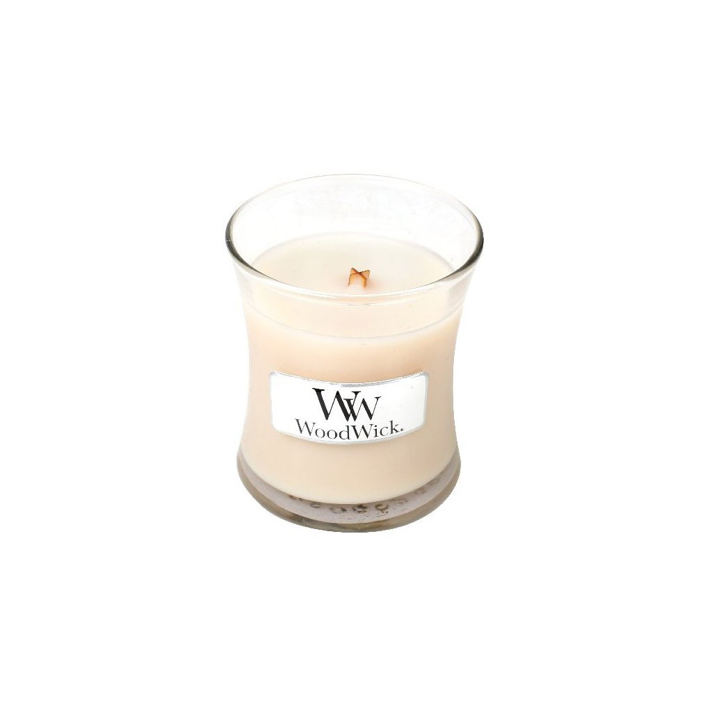 WoodWick - vonná svíčka Vanilla Bean (Vanilka) 85g