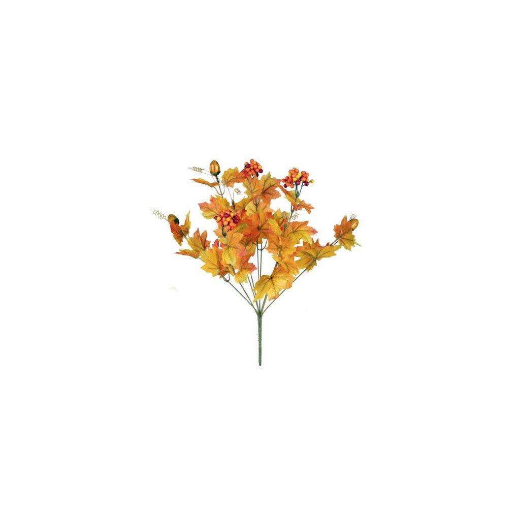 Podzimní dekorace, trs 39 cm