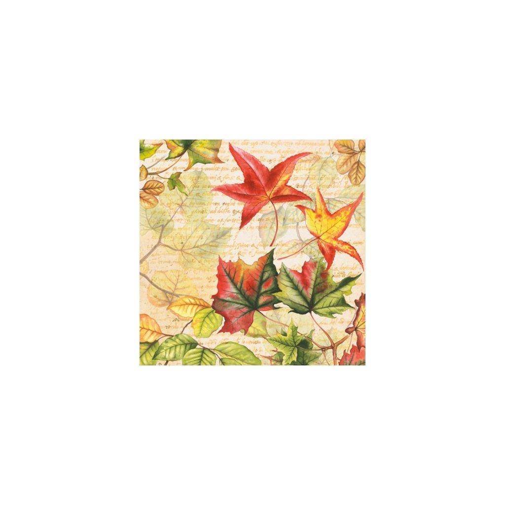 Ubrousky Podzimní čas 33x33 cm, 20 ks